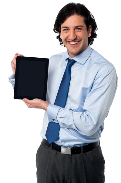 Swansea Computer Repairs Man with Tablet
